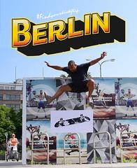 Findyourkickflip (2new4streetview) Tags: street streetart berlin pasteup art sunshine wall graffiti skateboarding wheatpaste kickflip heelflip findyourkickflip alexanderplaats