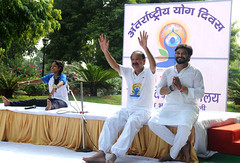 M. Venkaiah Naidu performing Yoga with Shri Babul Supriyo (legend_news) Tags: m venkaiah naidu performing yoga with shri babul supriyo