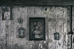 Broken home (Kriegaffe 9) Tags: pictures religious peeling decay religion paintings mouldy