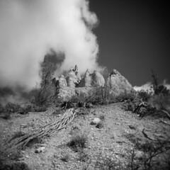 Bryce Canyon #9 (LowerDarnley) Tags: sky cloud southwest utah nationalpark holga erosion hoodoo brycecanyon