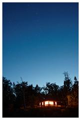 BigDipperLittleCabin (brnpttmn) Tags: minnesota night stars cabin northshore lakesuperior cookcounty bigdipper sonya7 nikkor24mmf2ais