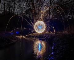 Eye reflection. (Nikolas Fotos) Tags: longexposure lightpainting reflection orb sphere sparkler sparks lichtmalerei lightart longexposurephotography llightpainting lightpaintingphotography peintureclaire