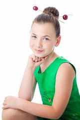(MissSmile) Tags: misssmile child kid girl summer portrait cherry fun funny positive memories color vivid red green