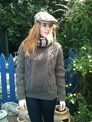 Teen in modern style aran sweater knitwear (Mytwist) Tags: irish sexy heritage female fetish vintage sweater fisherman fuzzy style fair retro passion knitted heavy viking heavyweight aran exclusive pullover authentic handcraft laine vouge handknitted sweatergirl knitwear stricken handgestrickt mytwist aranjumper grobstrick aranstyle