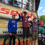 WMSC/BC Team Training Group's Kasper Woolley finished 2nd in a Nor Am Enduro bike race in Whistler (U21 men)