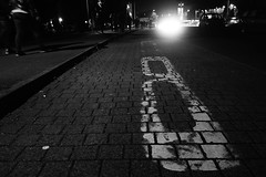 At the bus stop (stefankamert) Tags: stefankamert sony blackandwhite blackwhite sw bw baw noir noiretblanc rx100 rx100m2 street night bus schwarzweis light availablelight lowlight