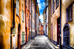 Old Town Street (iltakuva photography) Tags: street architecture colours sweden stockholm oldtown