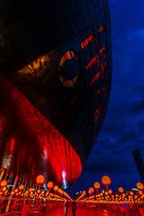 Wales Millennium Centre (technodean2000) Tags: park uk red wales night lights bay amusement hall nikon outdoor south centre text cardiff millennium lightroom d610