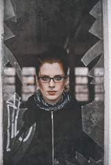 JaNMaSti (Fournes) Tags: portrait broken girl 35mm glasses nikon magdeburg readhead nikond3000