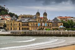 Town hall of San Sebastian (martinvonberg) Tags: city sea beach strand spain meer stadt es rathaus sansebastian euskadi spanien donostia baskenland basqueregion uferpromenade