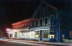 Valley Hotel Hillsboro NH (Edge and corner wear) Tags: station sign vintage photography lights star hotel photo pc inn neon bright time postcard cottage motel headlights lodge gas chrome storefront service motor texaco tonight lapse taillights