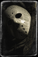 Tools of the Trade (skullbone76) Tags: stilllife macro mystery portraits death naturallight masks horror fridaythe13th slashers horrormovies jasonvoorhees