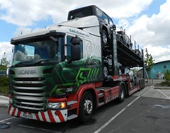 PE14XVO L7734 Eddie Stobart Scania 'Martina Julie' with Car Transporter trailer (graham19492000) Tags: eddie scania cartransporter stobart eddiestobart pe14xvo l7734 martinajulie