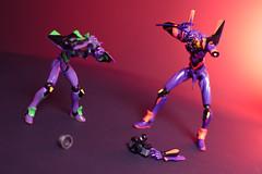 Evangelion 3.14159265359 (Selphybrand) Tags: life macro art toys 50mm still purple bokeh a7 evangelion eva01 revoltech sal50f14 fishweye