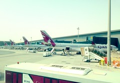 Hamad int Airport, Doha.