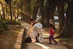 (JuanFL) Tags: street urban sun sol train canon contraluz landscape tren atardecer photo calle san afternoon autum buenos aires rail otoño isidro humo ef backlighting bruma vias acassuso 550d 18135mm t2i