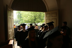 Into the courtyard they go (William & Mary Photos) Tags: williamsburg williamandmary commencement williammary wmgrad