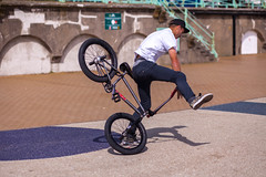 Stacking it (James Hodgson Photography) Tags: summer beach bicycle canon bmx brighton crash hove 85mm stack cap promenade trick seafront fail
