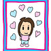 B-Pop SPWK Loves Poster Love Candy Color Hearts Blue Pink Soft Colors Pastel Crayon