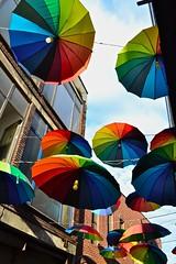 Rainbow Shades (lesfantasmagories) Tags: summer vacation turkey colours istanbul umbrellas 2014