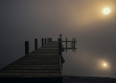 So Still The Morning ! (Osgoldcross Photography) Tags: wood morning winter sun sunlight mist lake reflection water misty landscape pier wooden nikon raw jetty smooth lakes lakedistrict calming surreal calm lakeside cumbria lakeland planks lakewindermere nikond810