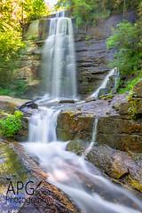 Twin Falls (APGougePhotography) Tags: fall water waterfall south southcarolina twin falls rush carolina