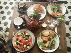 Lunch at my favourite place in London (simultaneous_illusion) Tags: food london lunch cafe shoreditch whitechapel exmouth exmouthcoffee