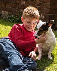 Jamie & Rex (donna.j.cannon) Tags: family friends dog terrier hund jackrussell jackrussellterrier