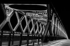 Old Bridge Bratislava (Pavol Kopinec) Tags: new bridge beautiful night construction bratislava reconstructed