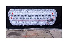 Graffiti (Promesto), East London, England. (Joseph O'Malley64) Tags: uk greatbritain england streetart london pasteup wall graffiti paint britain pavement mixedmedia spray british walls cans aerosol eastend eastlondon promesto