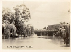 Lake Woolundry Wagga (Daddys 'lil Girl) Tags: postcard australia nsw historical 1949 wagga albury riverina