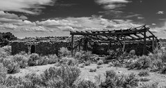 Eden Creek Ranch Stable (joeqc) Tags: ranch county blackandwhite bw black blancoynegro stone clouds creek canon log cabin cowboy nevada nye nv valley eden stable reveille 6d greytones 3217 rurex lonex