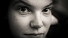 (Petar Stoykov) Tags: portrait blackandwhite art girl monochrome face sepia 35mm canon eos rotterdam moody artistic f14 portraiture 169 canondslr bnw canon35l canon1dmarkiii canon1dmark3