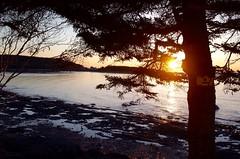 (jasonf5) Tags: sunset nature quebec birdhouse ricoh bic fleuve stlawrenceriver grii