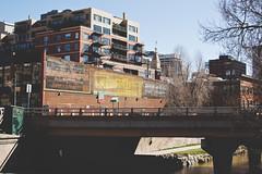 Wazee St. Denver, Colorado (seanmugs) Tags: bridge architecture 35mm colorado streetscene denver streetscape cherrycreek denvercolorado ghostsign vintagesign vintageadvertisement signporn nikon35mmf18gafsdxlens