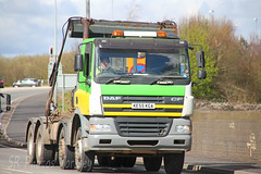 DAF CF Skip Loader KE55 KGA (SR Photos Torksey) Tags: road truck transport lorry commercial vehicle loader skip freight cf logistics daf haulage hgv lgv