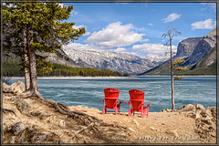 Waiting For You (Maclobster) Tags: park lake view chairs national banff rest minnewanka