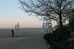 Ready For Summer (Flint Foto Factory) Tags: city urban chicago tree beach bike bicycle start wednesday season fun evening pier illinois spring fishing dusk towers north may lifeguard lakemichigan beginning hollywood kathy bicyclist edgewater budding nightfall thorndale 2016 feelsgood osterman