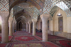 Masjed-e Nasir-al-Molk, Shiraz, Iran (=Mirjam=) Tags: iran mosaic framed religion persia mosque historic tiles shiraz colourful traveling mei carpets odc 2016 nikond750