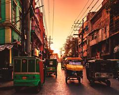 Rickshaw Ride III (Fortunes2011. Re start) Tags: road sunset vehicle tuktuk lahore 3wheelers fortrad fortunes2011nikon