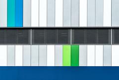 urban lines VII (Lunor 61) Tags: city blue urban white abstract black green lines architecture facade grey grau minimal architektur blau minimalistic schwarz gruen fassade abstrakt linien weis minimalismus
