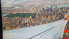 Taking Southwest to the Northeast (tquist24) Tags: city newyorkcity chicago newyork window buildings geotagged flying illinois view skyscrapers unitedstates centralpark flight wing samsung manhatten southwestairlines windowseat samsunggalaxys6