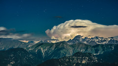 Moonlite on Argentera (.remfer06) Tags: longexposure moon france night clouds montagne alpes lune canon stars french sony mount moonlight lightning nuages nuit f28 a7 etoiles 135mm fd lightroom argentera longuepose moonlite clairs cotedazur
