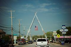 Firefighter Funeral (David Stebbing) Tags: street color flickr roadside