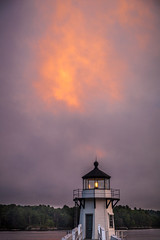 Doubling Point Lighthouse (Me in ME) Tags: sunset lighthouse bath maine kennebecriver arrowsic doublingpoint