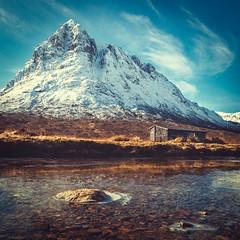 Base Camp (Iain Brooks) Tags: camping winter sunset mountain water river landscape scotland frozen scottish glen climbing glencoe mor buachaille etive