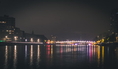Meuse at night - North (Falcdragon) Tags: city urban night river cityscape belgium sony liege meuse liège