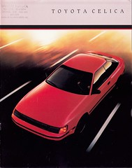 ST164 ST165 TOYOTA CELICA GT GT-S (celicacity) Tags: toyota gt 1986 brochure celica gts 18m st165 st164 000020236f50