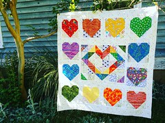Call out...Quilts for Pulse (DeeRoo G) Tags: love hearts rainbows quiltsforpulse orlandomqg