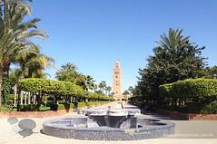 koutoubia marrakech (Dicas e Turismo) Tags: african viagem marrakech palais majorelle medina souks turismo viagens menara marrocos koutoubia marroco jemaaelfna mamounia mesquita frica roteiro marraquexe dicas